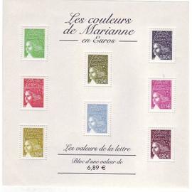 BLF 67 - LES COULEURS DE MARIANNE EN EUROS - LES VALEURS DE LA LETTRE - NEUF ** GOMME D
