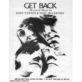 Beatles Get Back partition sheet music Get Back originale