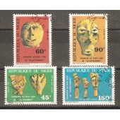 Niger-S�rie Compl�te,4 Timbres Oblit�r�s
