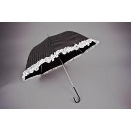 Parapluie Ombrelle Noire Mod�le Lolita Japonais Dentelle Blanche Cosplay D�guisement Costume