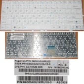Clavier Qwerty Russe / Rusian Pour ASUS EEEPC EEE PC 1000 1000H 1000HE Series, Blanc / White, P/N: 9J.N1N82.00R , 0KNA-0U4RU03 , 04GOA0U1KRU10-3