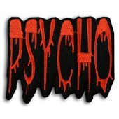 Patch Psycho - Psychobilly Punk Rock Rockabilly Hot Rod Custom Pin Up Tattoo Hardcore Skate Emo Old School Biker Rude Boy Sun Records Lolita Metal Gothique Slipknot No Fx - Pt-059