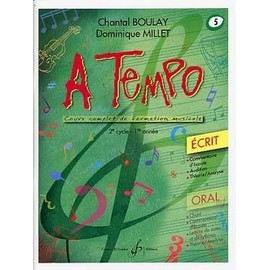 Boulay : a tempo vol 5 écrit - Billaudot