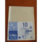 Lot De 10 Pochettes Recharges A4 - Pour Classeur Viquel Geode