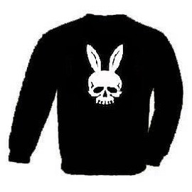 T-Shirt T�te De Mort Lapin Bunny Playboy