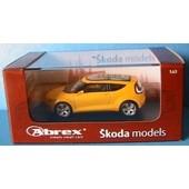 Skoda Joyster Concept Car Jaune Gelb Met Abrex 1/43 New