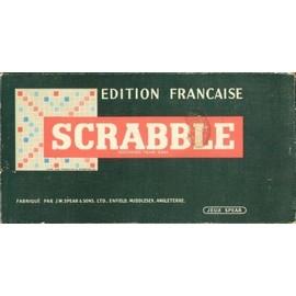 Jeu Scrabble �dition Fran�aise Originale, R�glettes Bois, �dition Jeux S.W. Spear