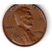 Usa Lincoln Wheat Cent 1956