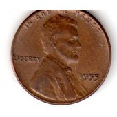 Usa Lincoln Wheat Cent 1955