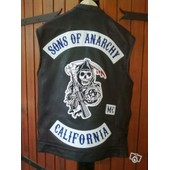 Veste Cuir Biker Replique Sons Of Anarchy(Serietv)Neuve Xl