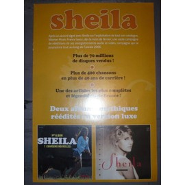 sheila - Affichette (ancien Bon de precommande Poster sheila 2006) 21x29,7 cm