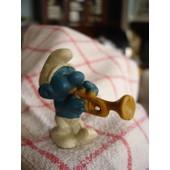 Stroumpf Musicien A La Trompette