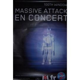 """""""MASSIVE ATTACK"""" affiche (120x80cm) En Concert"""