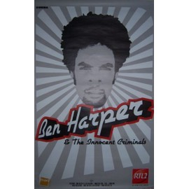 """BEN HARPER & THE INNOCENT CRIMINALS"" affiche (120x80cm)"