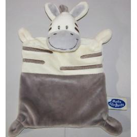 Doudou Plat Vache Zebre Gris Blanc Mots D Enfants