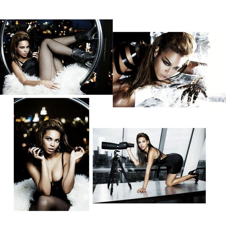 4 Poster Photo Beyonce Knowles Photoshoot Sexy Lingerie 20x30cm