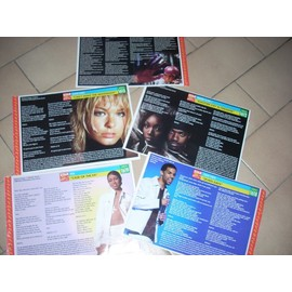 Lot de 5 fiches chansons (Craig David, Brandy & Ray J, Mya...etc)