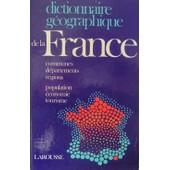 Dictionnaire Geographique De La France de Oizon Ren�