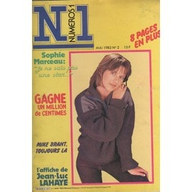 Numeros 1 N1 N� 2 : 1983 Sophie Marceau (3p+Couv)/Pierre Cosso/Gotainer/Julien Clerc/Telephone/Coluche/Dalida/Mike Brant (2p)/Hallyday/Chagrin D Amour/Romain Didier