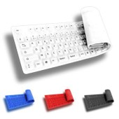 Clavier Silicone Souple Flexible AZERTY 108 Touches Cable USB