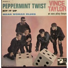 peppermint twist  1ere partie  2'08 2e partie 2'50 (Aber - Dee - Glover)  /  Rit it up 2'00 (Blackwell - Marascalco)  - mean woman blues 2'01 (Claude Demetrius)