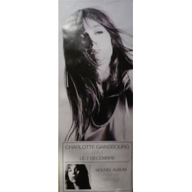 CHARLOTTE GAINSBOURG IRM - AFFICHE AVEC BECK - 180x60 cm