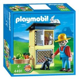 Playmobil 4491 - Fermier / Lapins / Clapiers