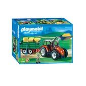 Playmobil 4496 - Grand Tracteur Avec Remorque
