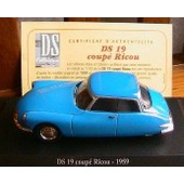 Citroen Ds 19 Coupe Bleu Ricou 1959 1/43 Norev Atlas Blue New
