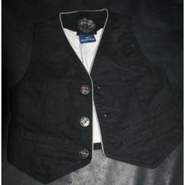 Gilet de costume noir Sergent Major