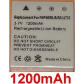 Batterie g�n�rique pour Pentax Optio S6, Optio S7, Optio E65, Optio A30, Optio A20, Optio 4A10, Fujijifilm NP-40, Fujifilm Finepix J50