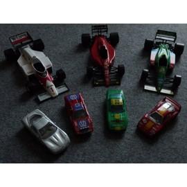 Lot De 7 Voitures Burago - F1 Ferrari, Benetton, Macclaren, Chevrolet Corvette, Ferrari F308 Gtb, F40
