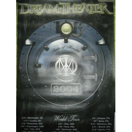 AFFICHE DREAM THEATER TRAIN OF THOUGHT TOUR 2004