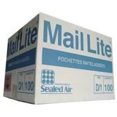 100 Pochettes/Enveloppes Matelass�es � Bulles D'air 180 X 260 Mm Mail Lite
