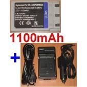 Chargeur + Batterie Pour Konica Minolta DR-LB4 NP500 NP600 DRLB4 NP-500 NP-600 **1100mAh** compatible DiMAGE G400, G500, G530, G600, Revio KD-310, KD-310Z, KD-400Z, KD-410Z, KD-420Z, KD-500Z, KD-510Z