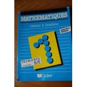 Math�matiques Classes De Premi�res S, E - G�om�trie de Equipe N. Dimath�me