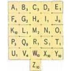 Lettres De Scrabble (Lot De 2 Lettres)