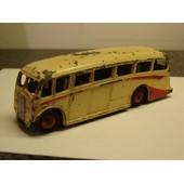 Luxury Coach Dinky Toys N�281 - Autobus Anglais Bicolore Cr�me Et Rouge