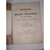 Memento De Dessin Industriel De Mecanique de g. lenormand
