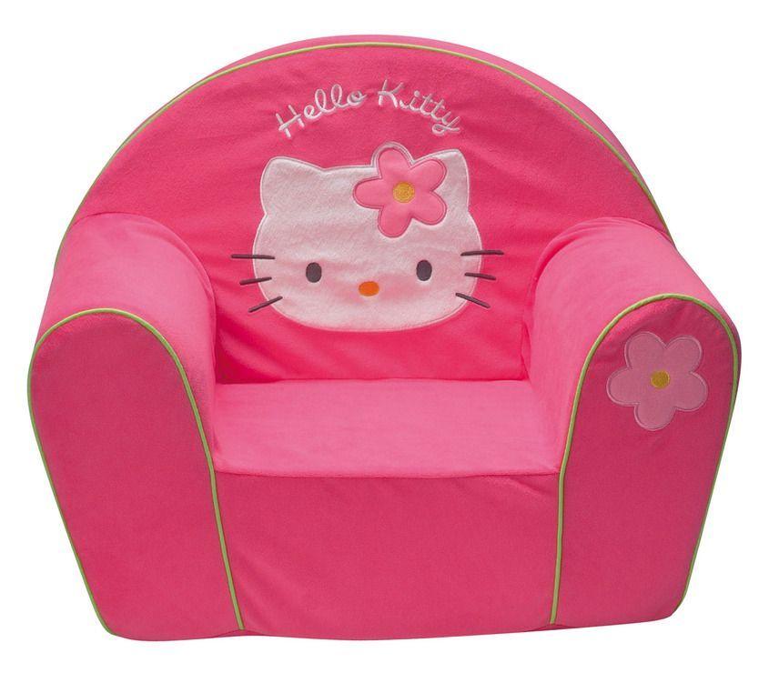 Fauteuil Club Hello Kitty en polyvelours Fauteuil Club Hello Kitty Motif Placé en Polyvelours  D...