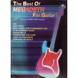 The best of megadeth for guitar
