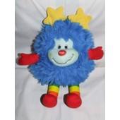 Ancien Vintage Rainbow Brite Sprite Doudou Peluche Mattel 1983 Bleu Rouge Jaune 33 Cm