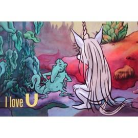"""U (dessin animé)- Carte postale - modèle """"i love U"""""""