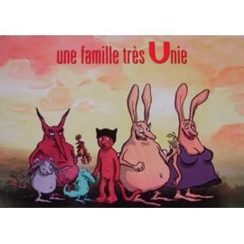 """U (dessin animé)- Carte postale - modèle """"une famille très Unie"""""""