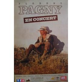 """affiche Florent Pagny """"c'est comme ça"""" - 80x120 cm"""