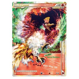 Pokemon L�gendaire Ho-Oh Legend 140 Hp - Cartes Ultra Rares De Coeur D'or Et Ame D'argent