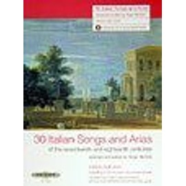 30 italian songs and arias of the 17 and 18th centuries (+ 1 Cd) medium-high voice - chant - Peters