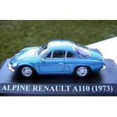 Alpine Renault A110 1973 1/43 Ixo Altaya Bleu Blue Racing