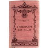 Dictionnaire Des Rimes de cayotte, l