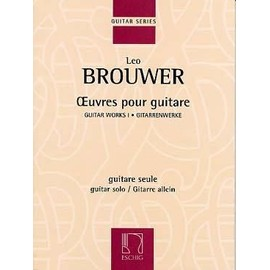 Brouwer : oeuvres pour guitare vol 1 - Eschig